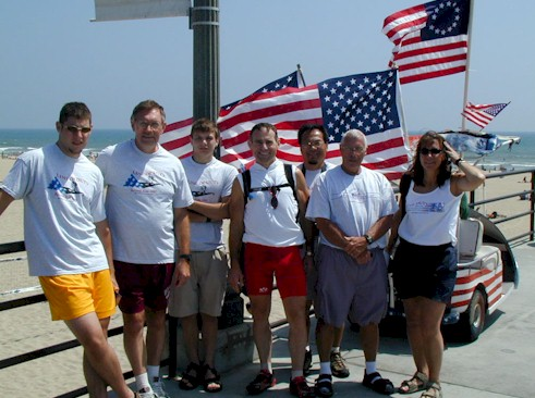 Dr. Bob Breedlove and his crew on the Huntington Beach Pier!!