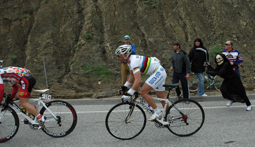 Bettini being chased by Grim Reaper